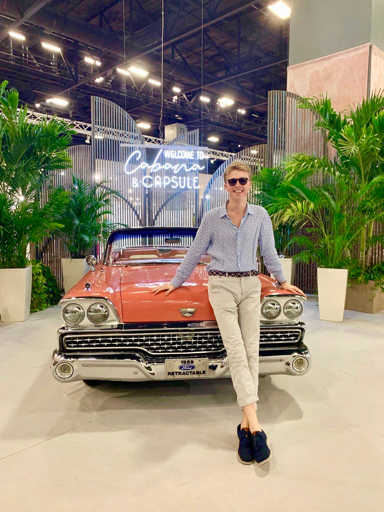 Havana, Cabana, Vintage Car, Palm Tree, Capsule, Trade Show, Miami, Miami Beach, Linen Shirt, Mustique, Pink House Mustique, Miami Convention Centre
