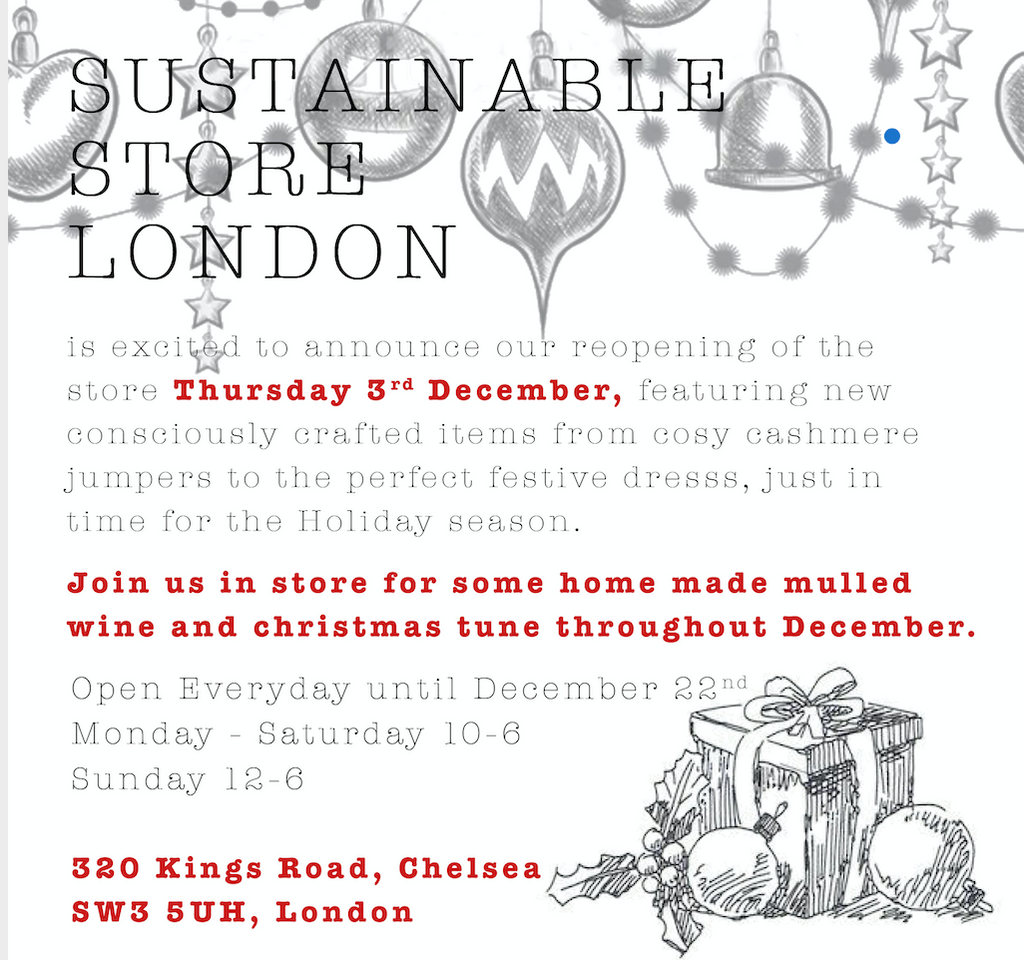 Sustainable Store now open again!