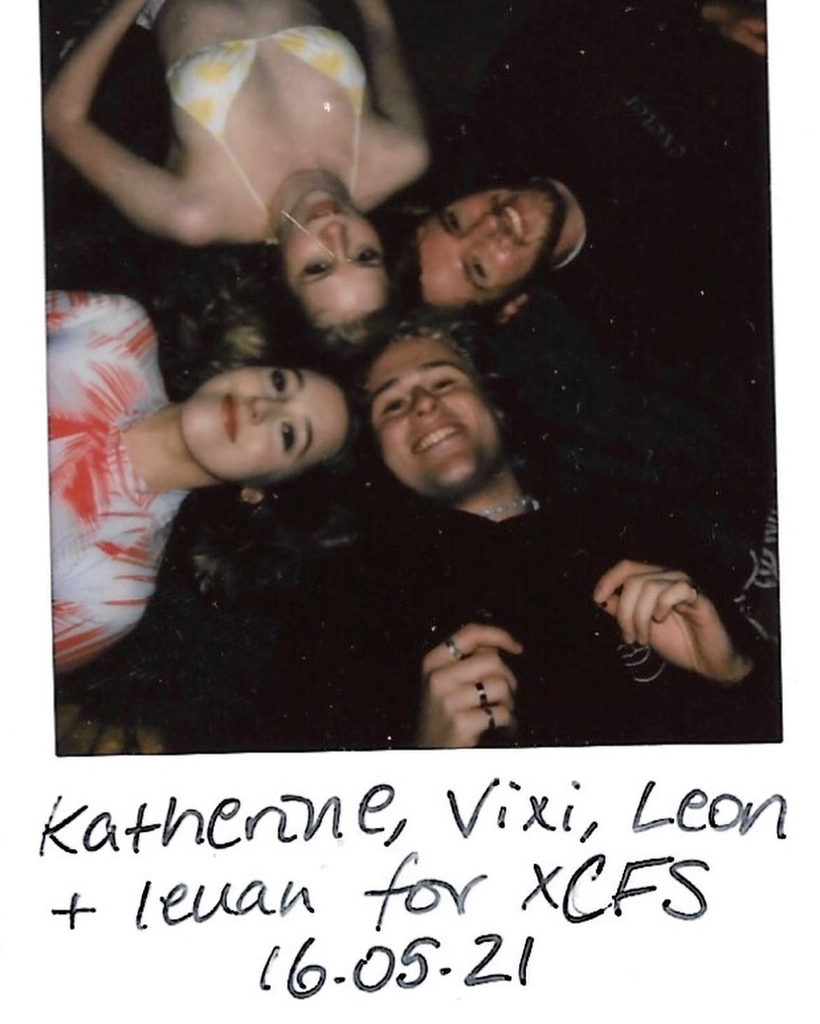 Polaroid of behind the scenes at XCFS 2021 shoot