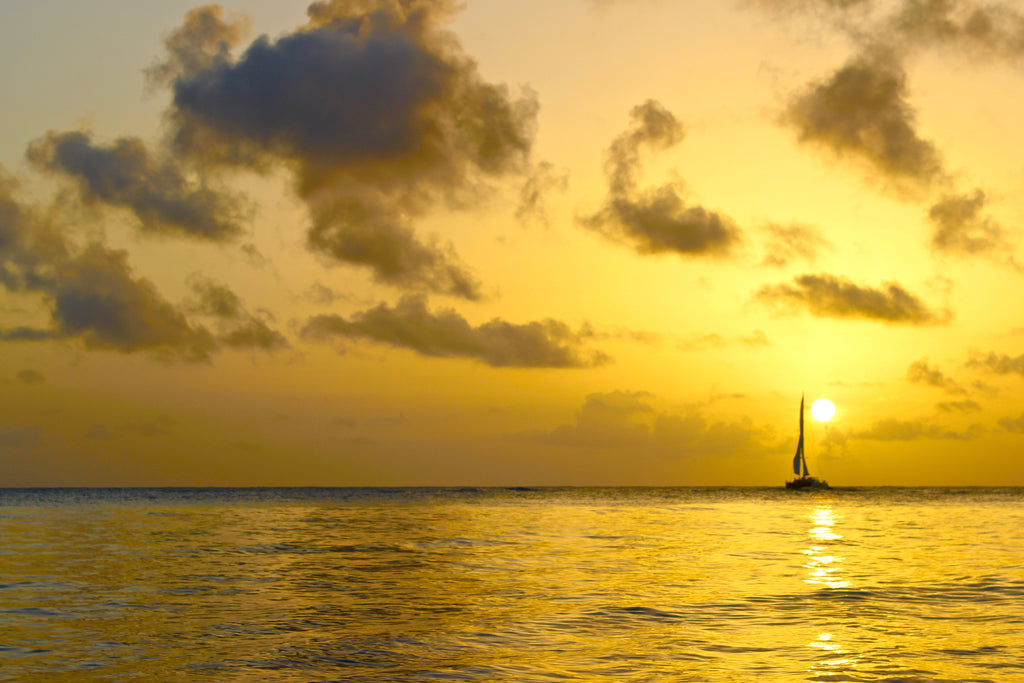 Beautiful Mustique sunset
