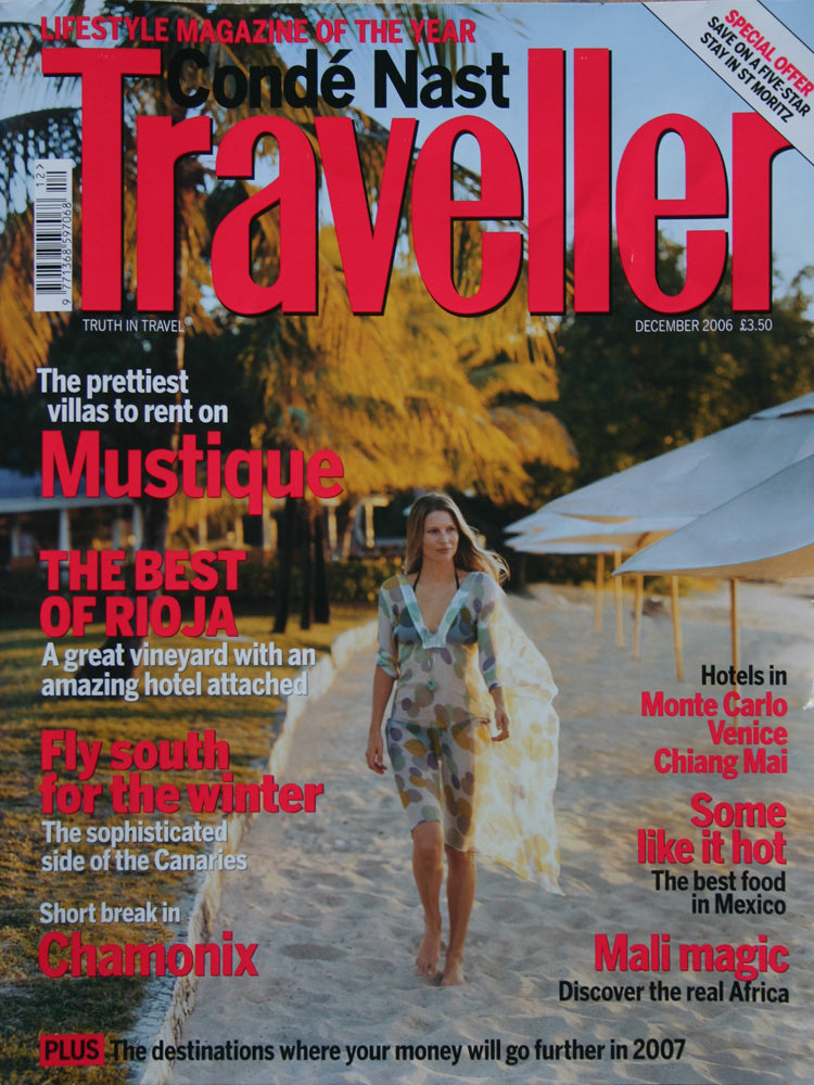 Conde Nast Traveller magazine Dec 2016