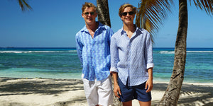 Shop designer linen shirts & holiday wear by Lotty B Mustique