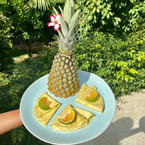 pineapple pancake mustique style
