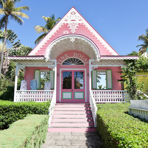 Pink House Boutique on Mustique Island