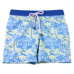 Boys Trunks (Mustique Toile Yellow/Blue)
