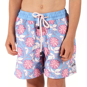 Boys Trunks (Passion Fruit Blue/Pink) Front