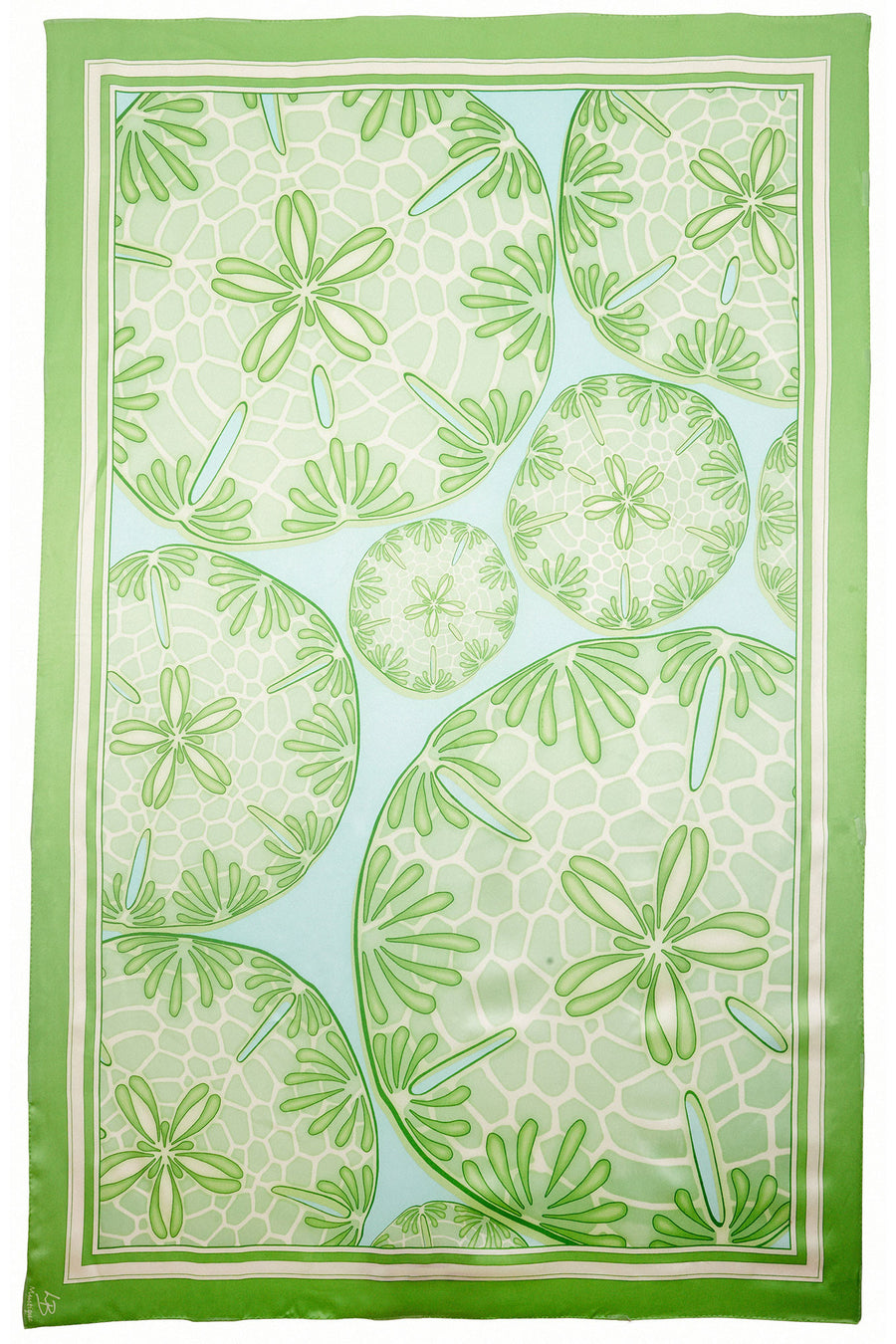 Lotty B Sarong in Silk Charmeuse (Sand Dollar Green)