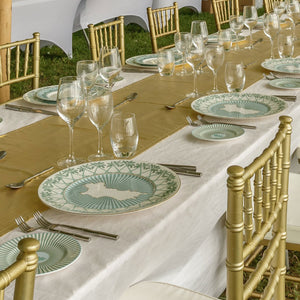 Fine Bone China : CHARGER PLATES - Mustique style