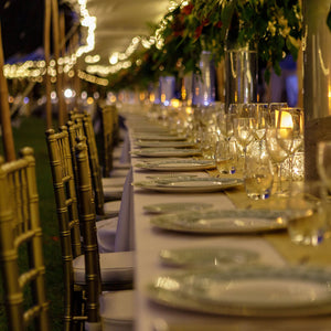Fine Bone China : CHARGER PLATES - Mustique Anniversary Gala