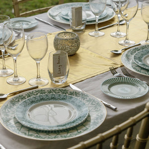 Fine bone china dinner service - Mustique Island Style