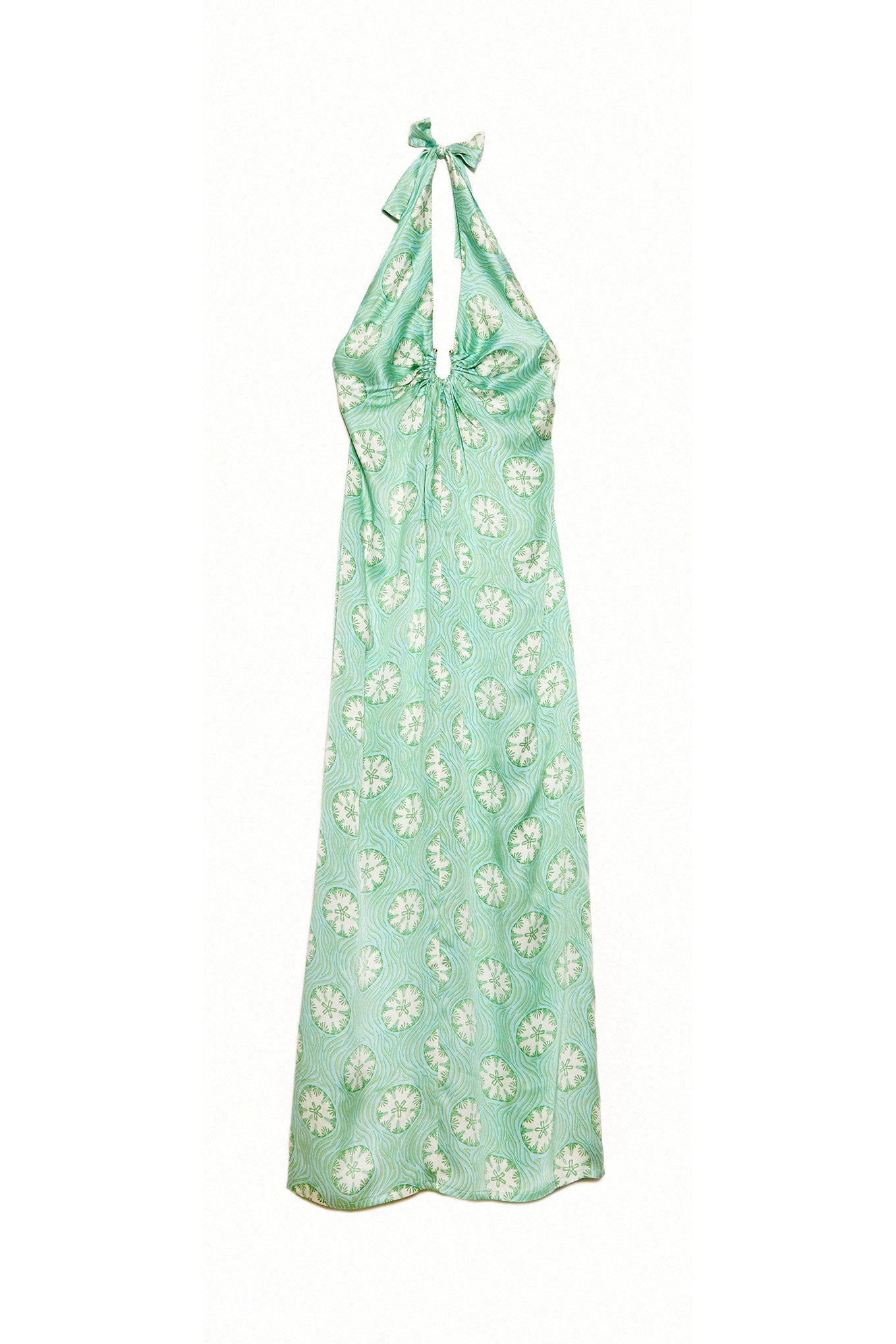Lotty B Halter-Neck Dress (Sand Dollar Repeat Green)