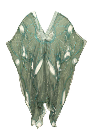 Lotty B 3/4 Length Kaftan Egret (Lichen) Flat