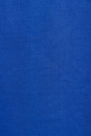 Linen dazzling blue swatch, designer Lotty B Mustique Resort wear