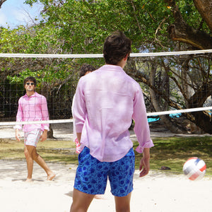 Mens swim shorts: POMEGRANATE - BLUE