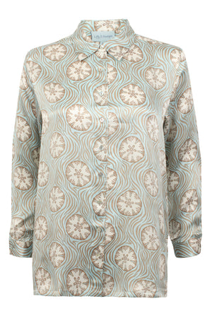 Lotty B Silk Shirt (Sand Dollar Repeat Taupe)