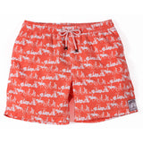 Mens Trunks Going to the Beach (White/Orange)
