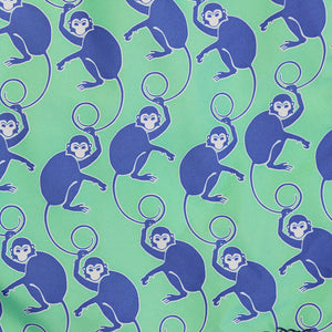 Mens Trunks ~ Monkey (Green/Purple) Detail