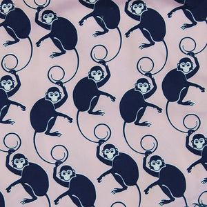 Mens Trunks ~ Monkey (Pink/Navy) Detail