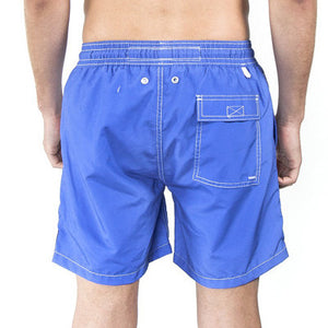 Mens Plain Colour Trunks (Navy) Back