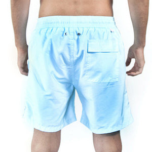Mens Plain Colour Trunks (Pale Blue) Back