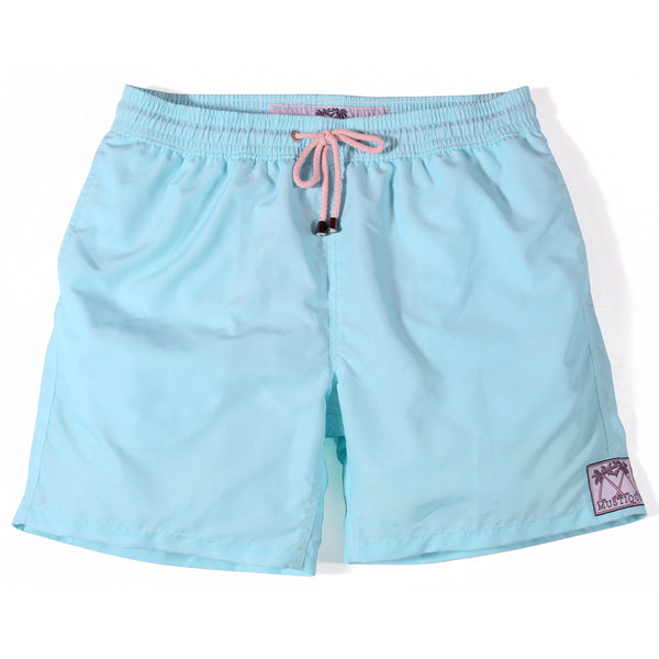 Mens Plain Colour Trunks (Pale Blue)
