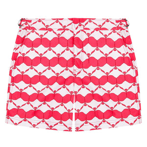 Mens Beach Shorts : MANTA RAY - RED
