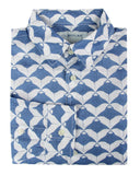 Mens Linen Shirt : MANTA RAY - NAVY