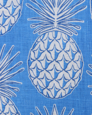 Mens Linen Shirt : PINEAPPLE - BLUE swatch