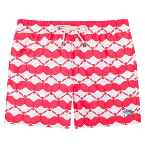 Pink House Mustique Mens swim shorts MANTA RAY RED