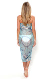 Lotty B Sarong in Chiffon, Egret (Blue) Back