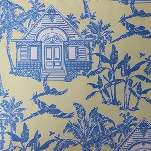 Boys Trunks (Mustique Toile Yellow/Blue) Detail