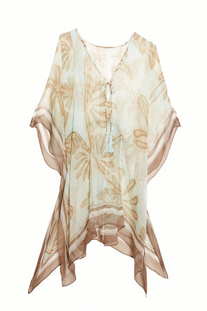 Lotty B Short Kaftan in Silk Chiffon (Sand Dollar Taupe)