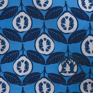 Premium quality Mens swim, Guava blue print swatch by Lotty B Mustique