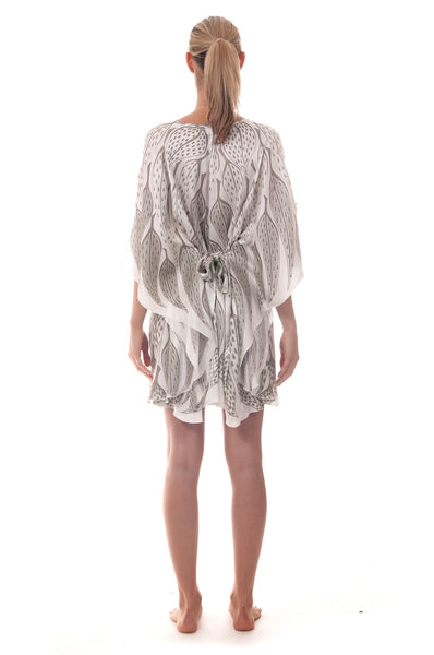 Lotty B Short Kaftan ~ Leaves (Lichen) Back