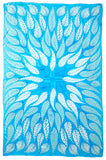 Lotty B Sarong in Chiffon ~ Leaves (Turquoise)