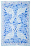 Lotty B Sarong in Chiffon ~ Pelican (Blue)