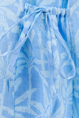 Linen Sun Dress: BANANA TREE - BLUE