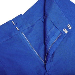 Womens Linen Shorts : DAZZLING BLUE