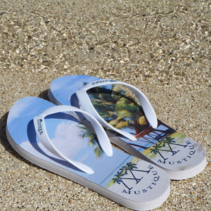 Adult Flip flop: LAGOON PALMS on the beach
