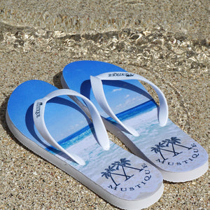 Adult Flip flop: MACARONI BEACH on the beach Mustique