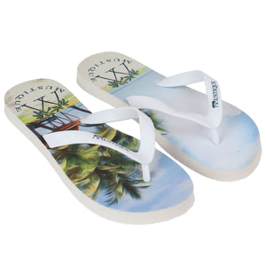Adult Flip flop: LAGOON PALMS side
