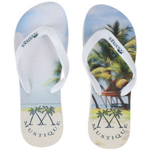 Adult Flip flop: LAGOON PALMS top