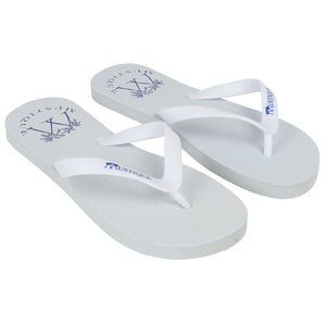 Adult Flip flops: LOGO - WHITE side