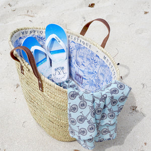 Father & Sons or Mother & daughters set Flip flops: MACARONI BEACH basket