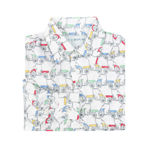 Childrens Linen Shirt: MUSTIQUE MULE - MULTI