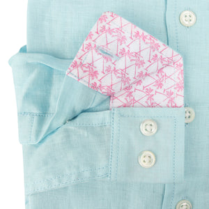 Childrens Linen Shirt: PALE BLUE designer Lotty B Mustique kids clothing