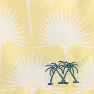 Boys swim trunks : FAN PALM - YELLOW, detail