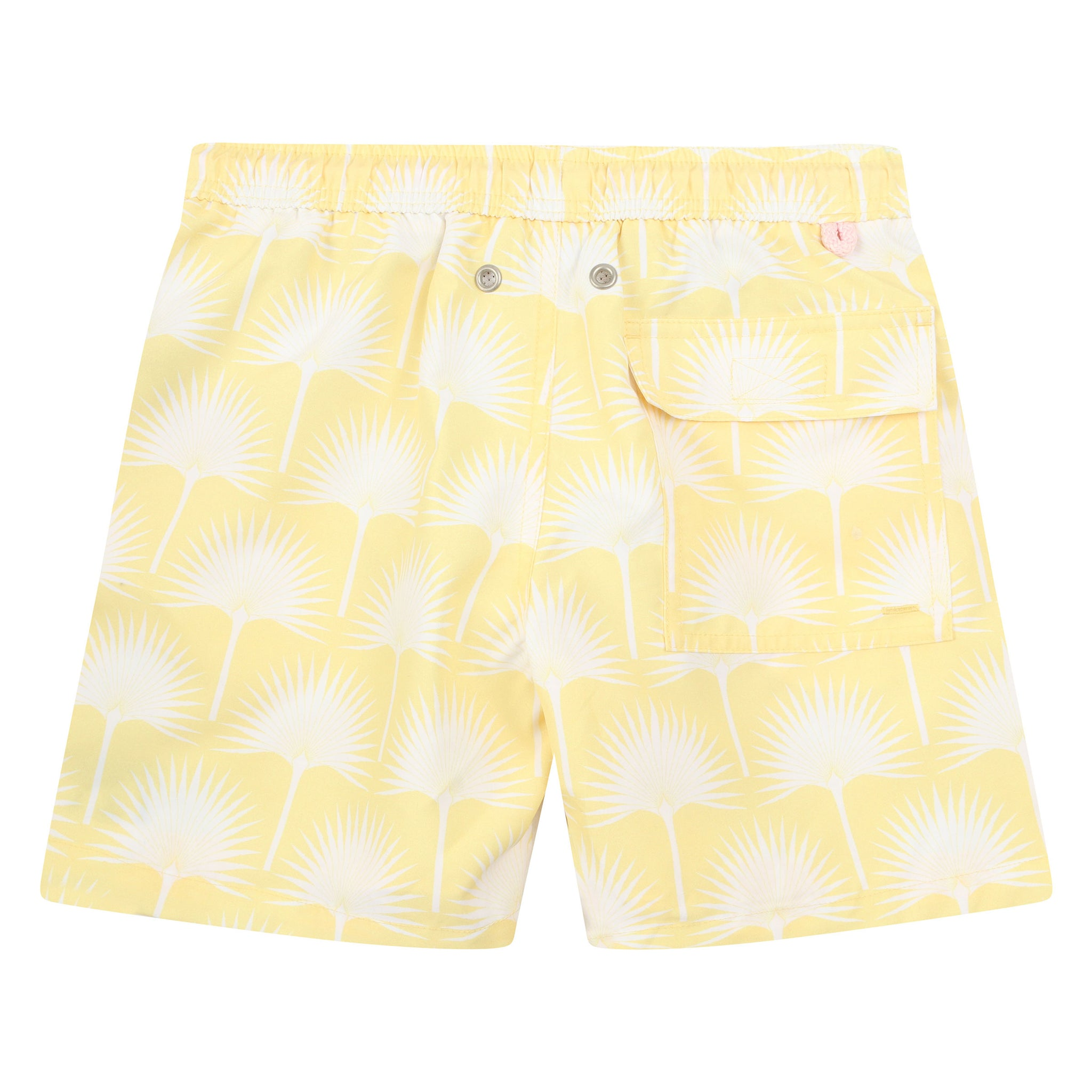 Mens Swim Trunks Orange Slices Yellow Background Quick Dry Beach Board Short with Mesh Lining