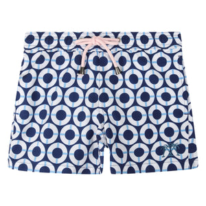 Boys swim trunks : LIFE RING - NAVY Designer Lotty B Mustique holiday style