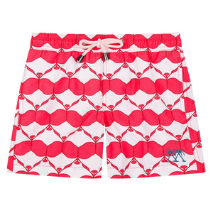 Boys swim trunks : MANTA RAY - RED